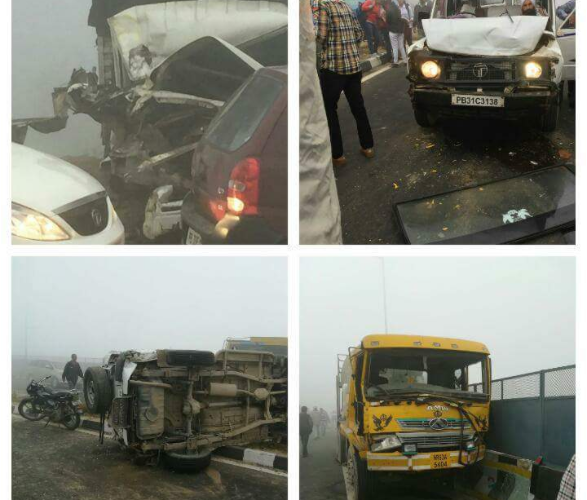 Smog killed eight students in the accident on Bathinda-Chandigarh Highway