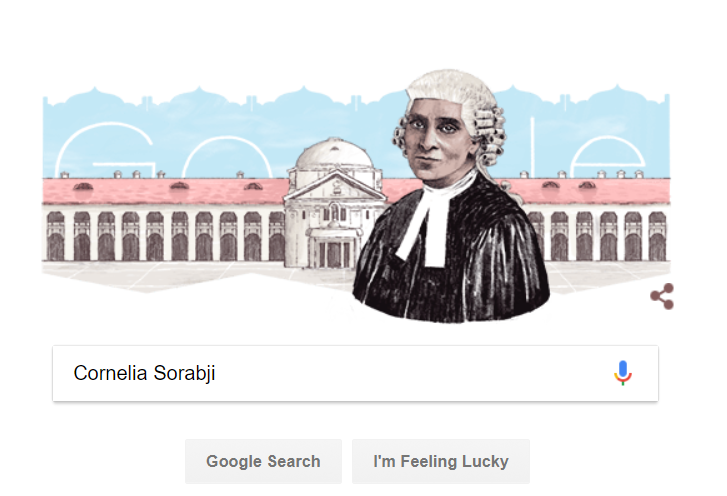 Cornelia Sorabji India's first female lawyer; 151st birth anniversary marks by Google Doodle