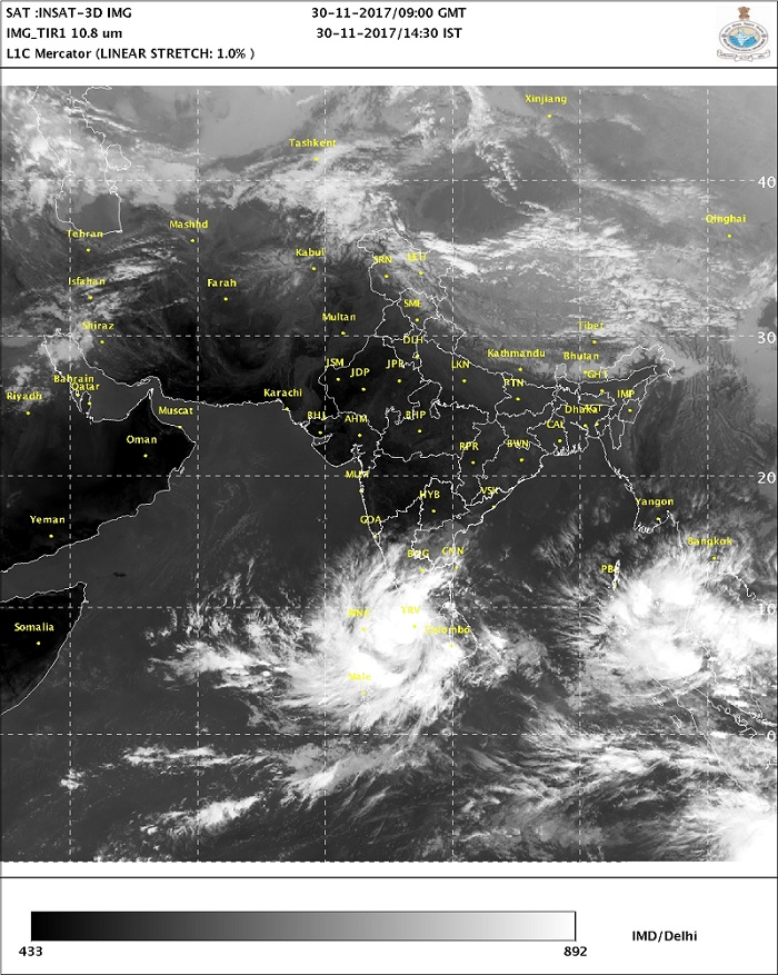 Cyclone Ockhi in chennai
