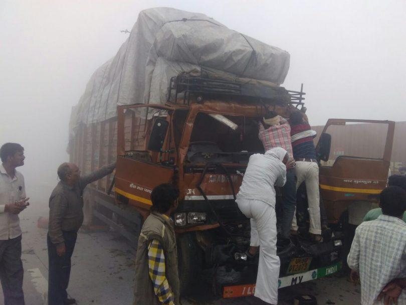 Yamuna Expressway: 24 Vehicle pile on leaves 7 injured