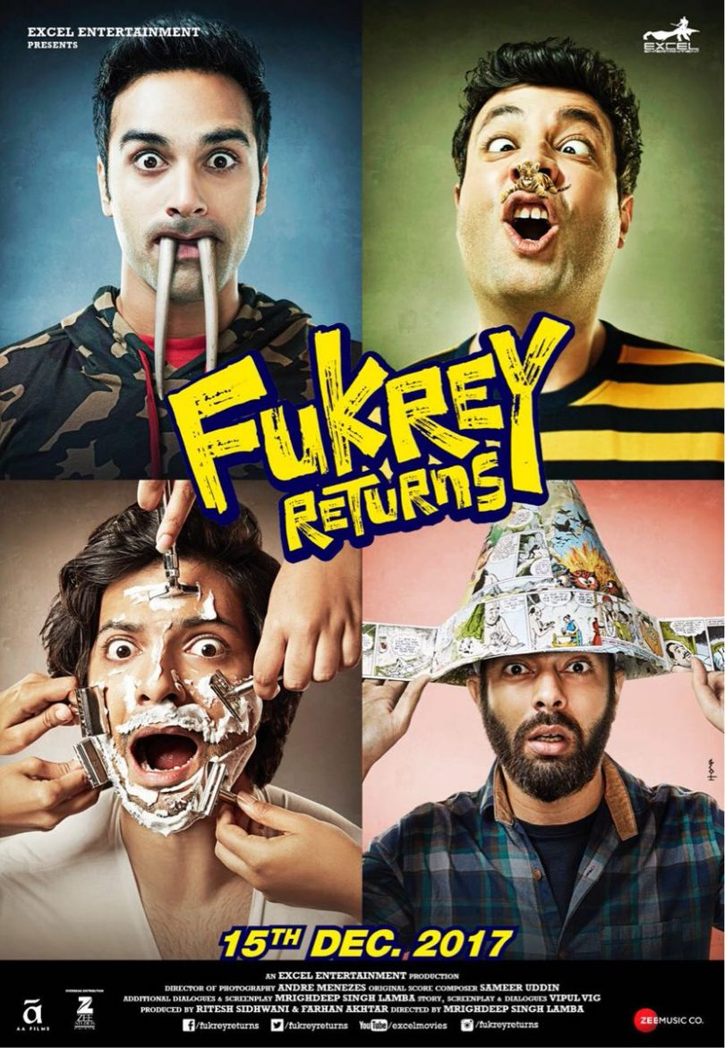 Fukrey Returns to be released on 15 December 2017, new posters released