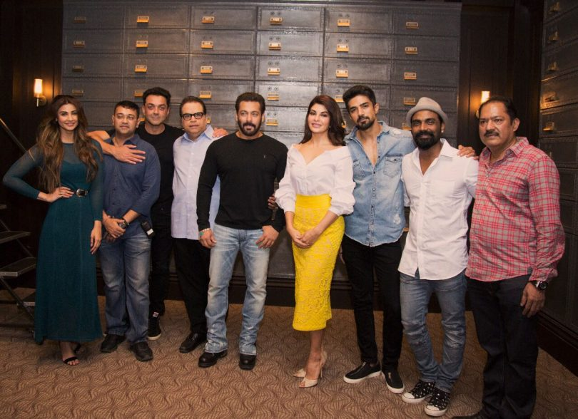 Salman Khan on twitter with team of his Upcoming Movie Race 3