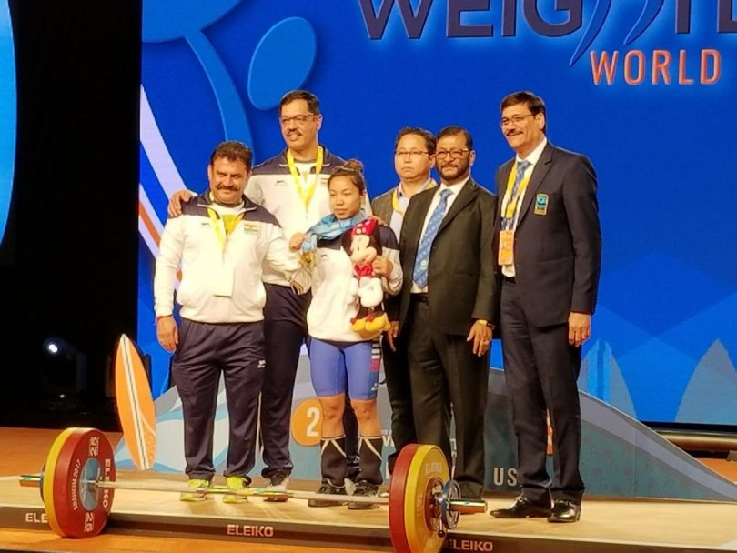 Mirabai Chanu wins gold at Weightlifting World Championship