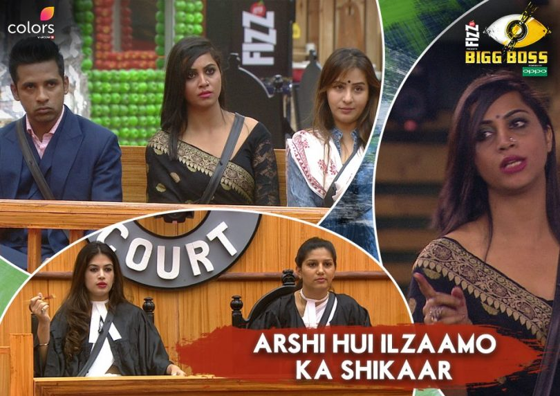 Bigg Boss 11: Puneesh and Bandgi fight for Hina, Arshi faces questions from Gharwalas and fight Priyank