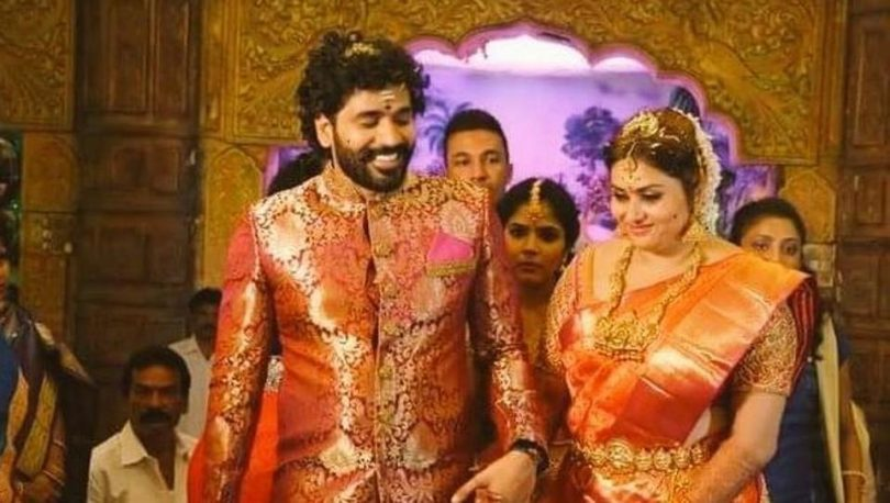 Namitha and Veerandra Chowdhary tie the knot, Bigg Boss Tamil contestants visit the ceremony