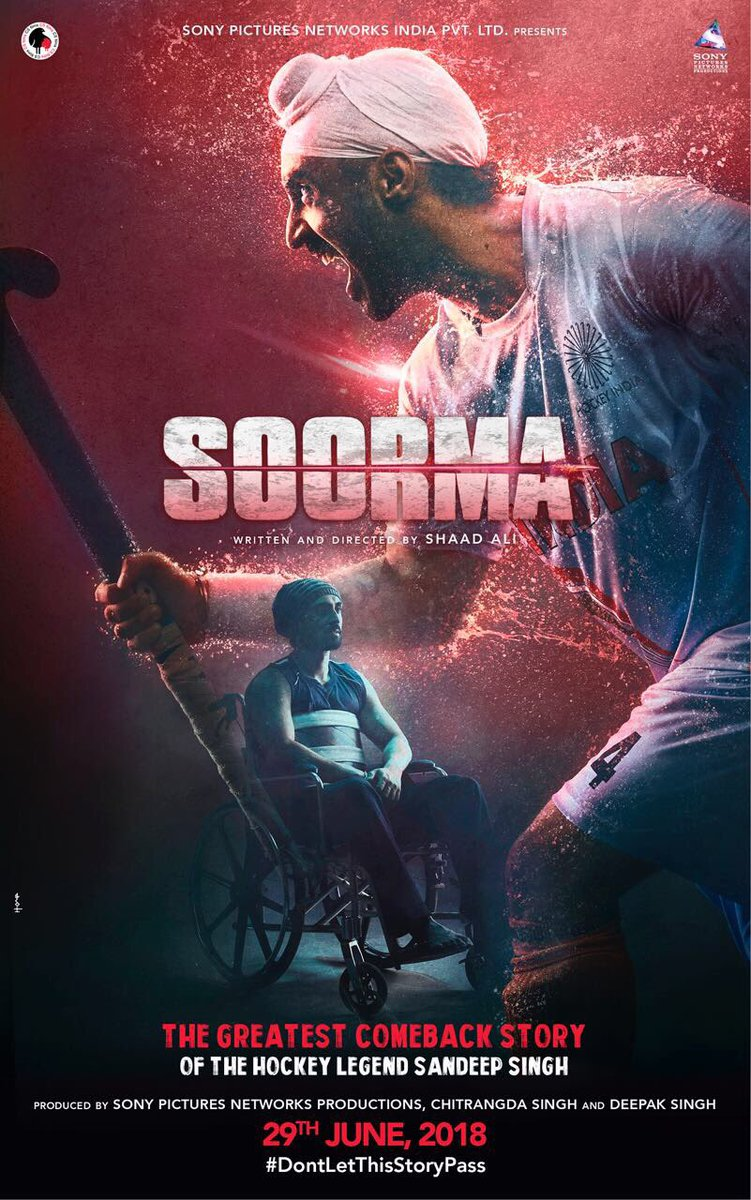 Diljit Dosanjh's Soorma to release on 29 June 2018