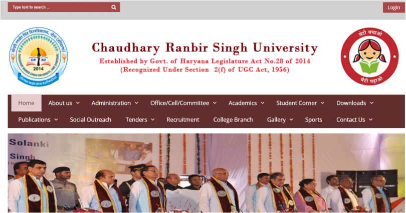 Chaudhary Ranbir Singh University, Jind BEd result 2017 declared at crsu.ac.in