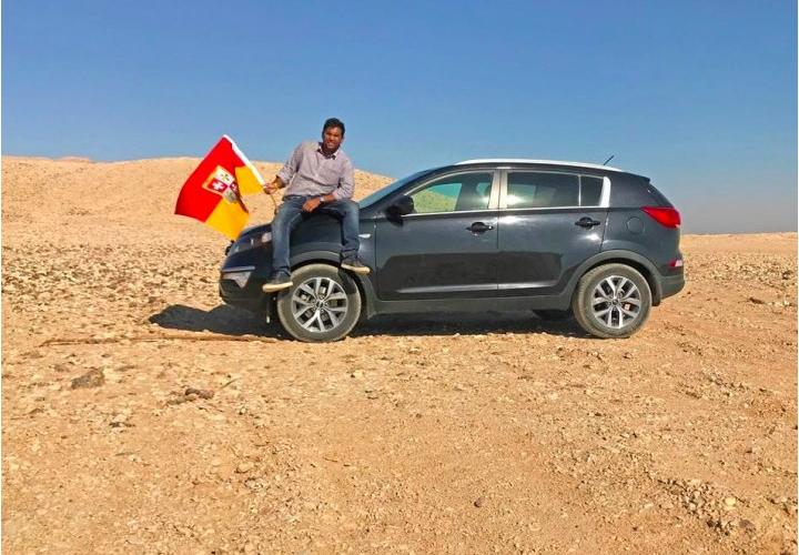 Indian man Suyash Dixit declares himself as King of Bir Tawil land between Egypt and Sudan