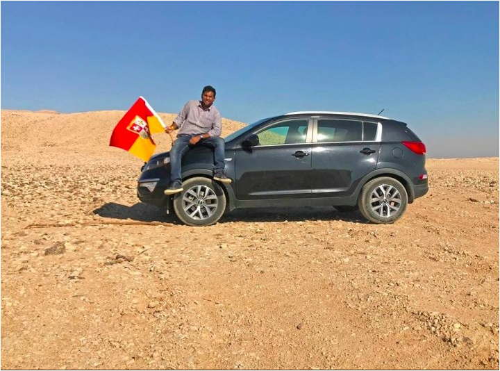 Indian man Suyash Dixit declares himself as King of Bir Tawil land between Egypt and Sudan