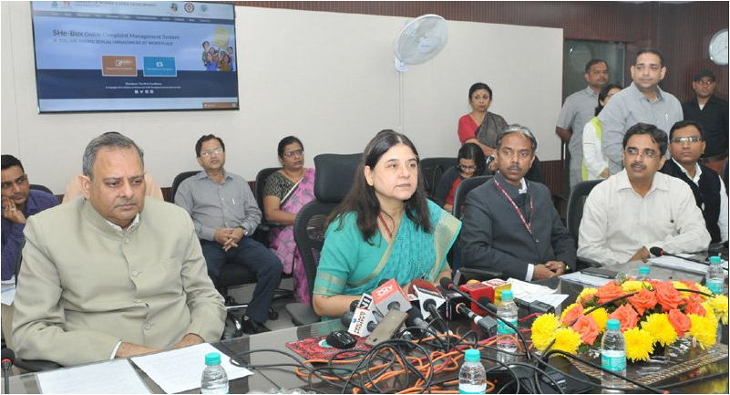 Maneka Gandhi launches SHe box portal for workplace sexual harassment complaints