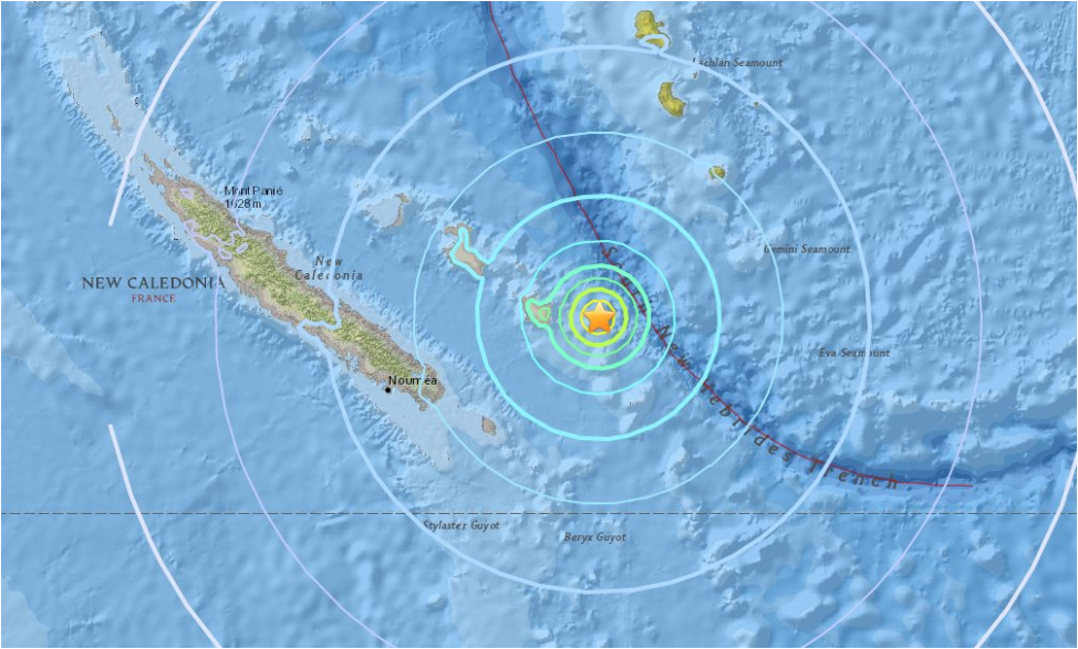 Tsunami warning after magnitude 7 quake rocks New Caledonia