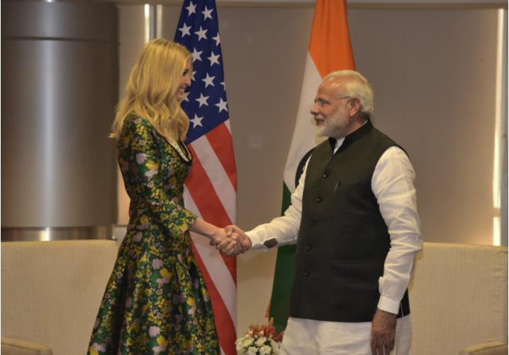 Ivanka Trump meets PM Modi in Hyderabad ahead of GES 2017