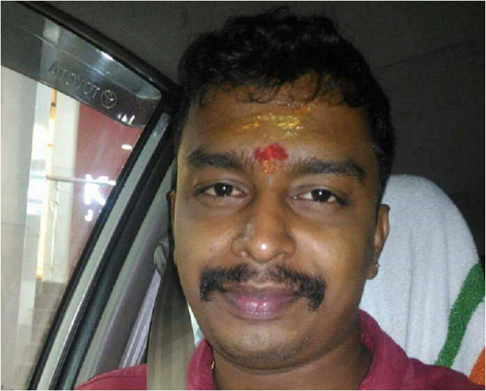 RSS worker hacked to death in Thrissur