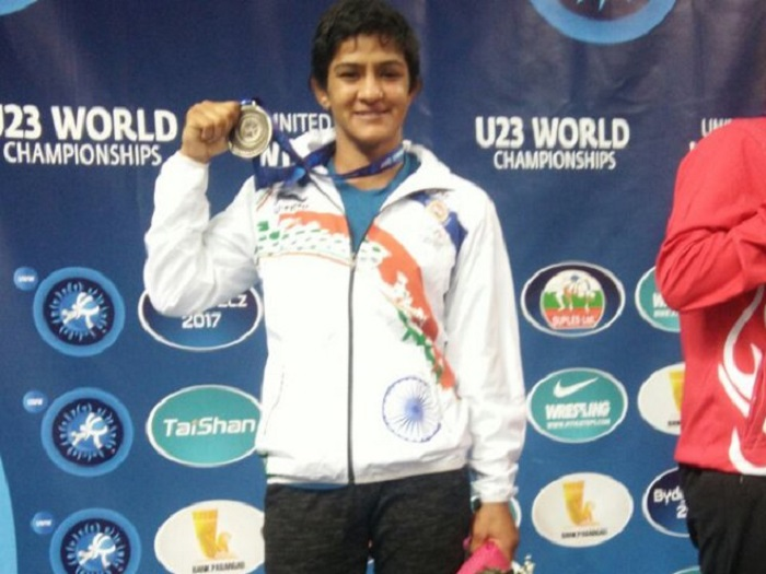 Ritu Phogat wins silver medal under-23 Senior World Wrestling Championship