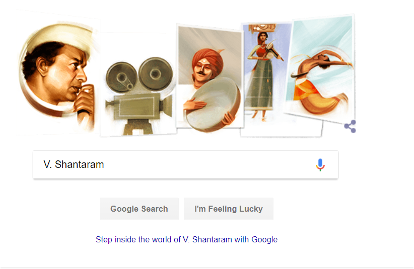 Google Doodle: Tribute to Director V Shantaram