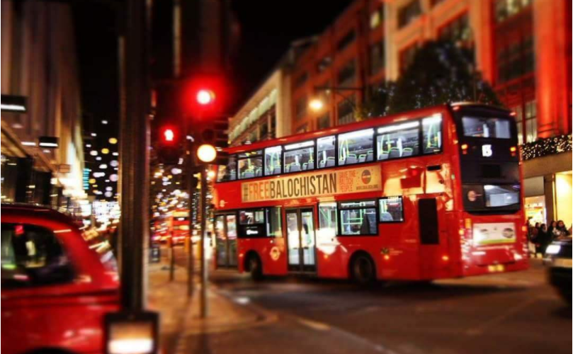 Free Balochistan Campaign: London buses demanding Baloch Independence from Pakistan
