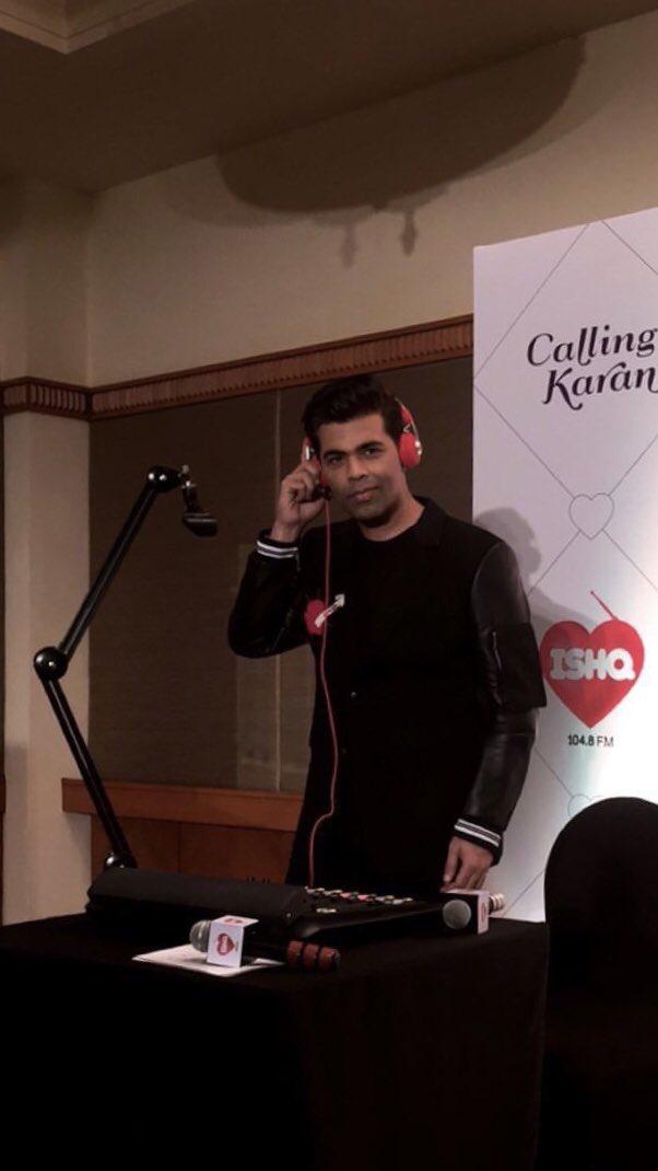 Karan Johar in new avatar as RJ in his show, 'Calling Karan' on Radio Ishq 104.8 FM