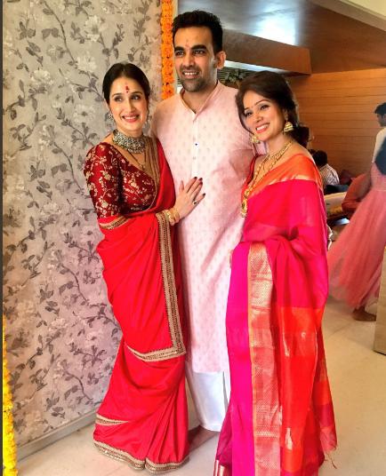 Sagarika Ghatge and zaheer khan