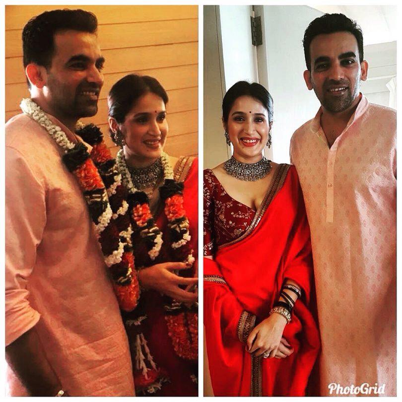 Zaheer Khan and Sagarika Ghatge got married, See the Pics