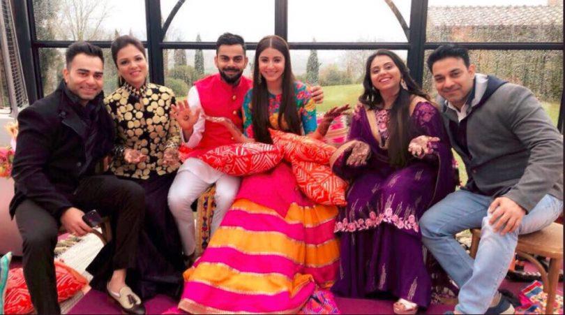 Virat Kohli and Anushka with close relatives