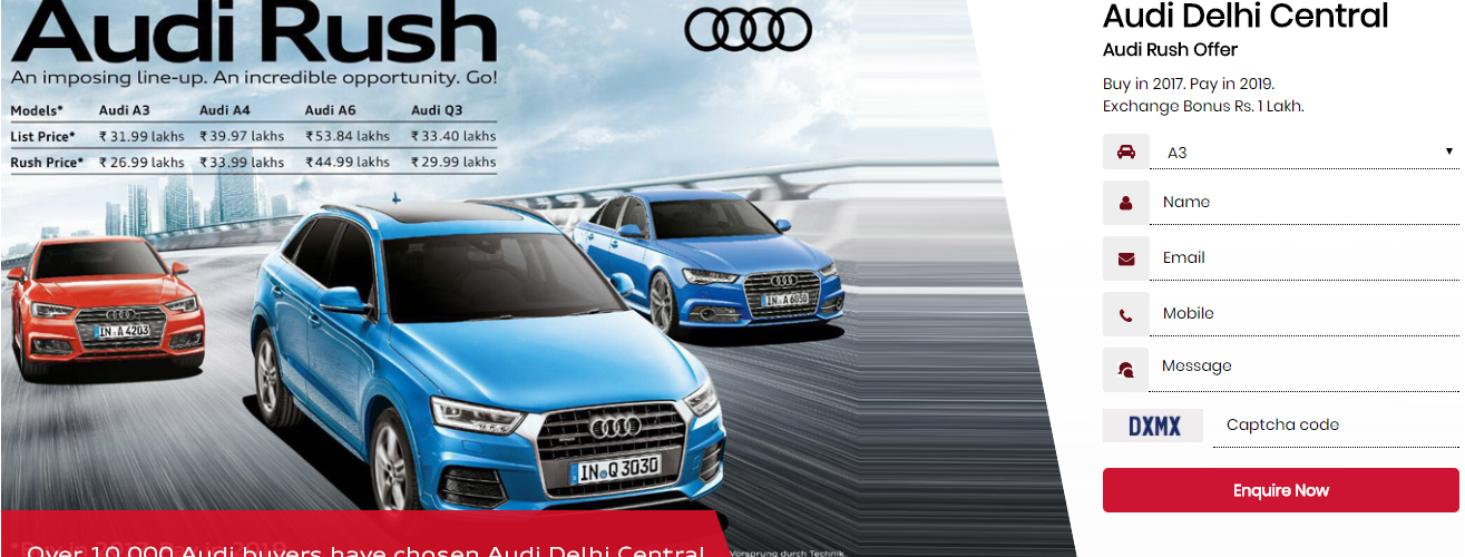 Audi India Offers: Discount up to Rs 8.85 lakh with Buy now Pay in 2019 scheme