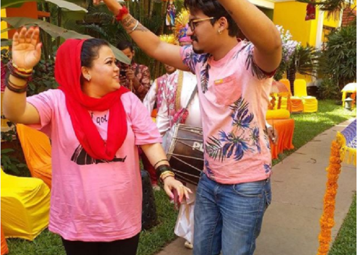 Bharti-Harsh wedding celebrations begin with pool party in Goa