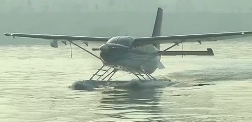 Seaplane takes off from Sabarmati river with PM Modi; BJP's last Gujarat Election campaign