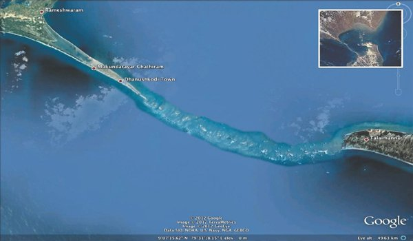 Ram Setu exists, claims an American channel