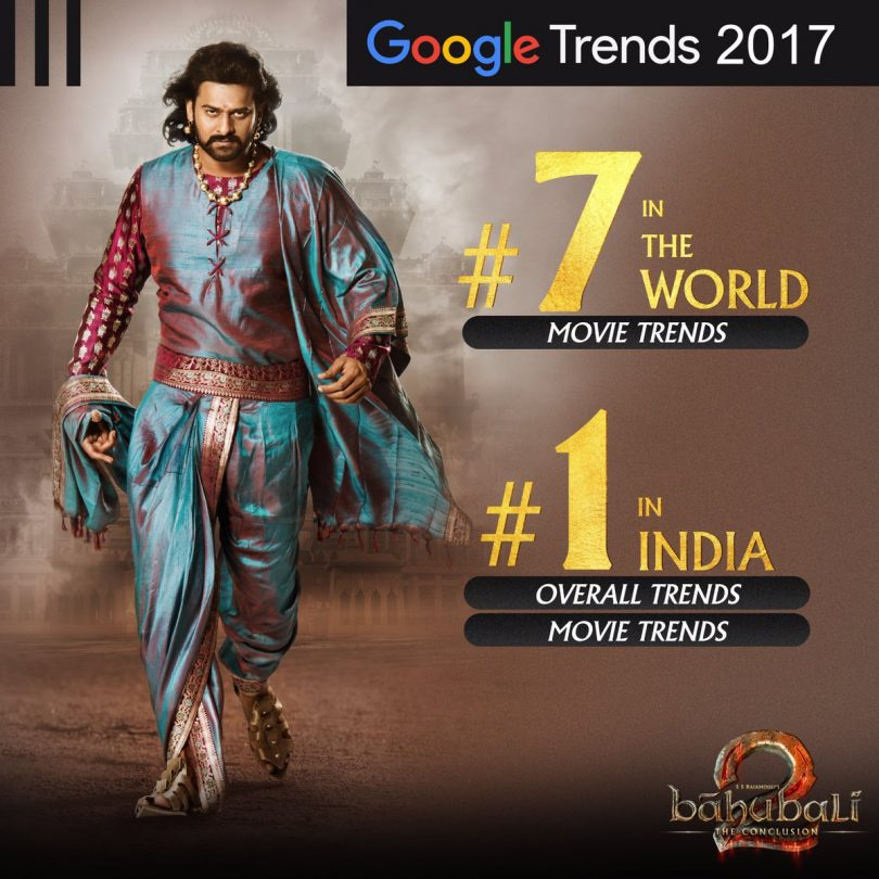 Baahubali 2: The Conclusion included in the top searched movies of 2017
