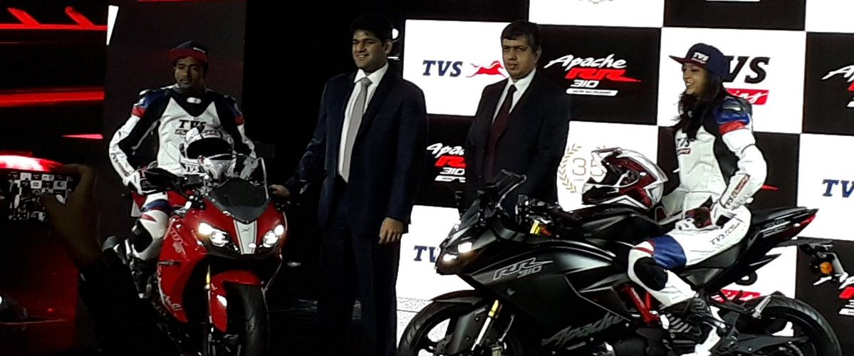 TVS Apache RR 310 Launched in India at Rs 2.05 Lakhs