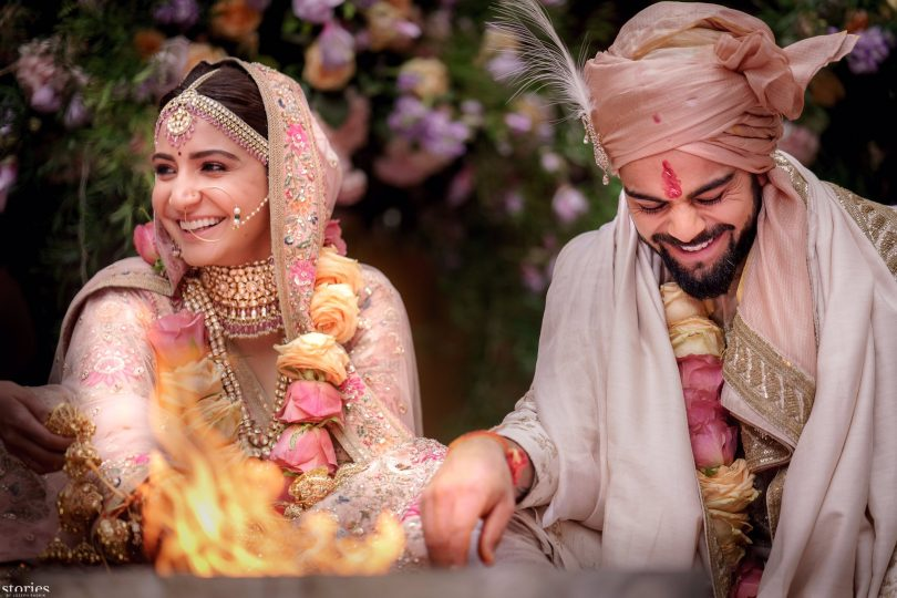 Anushka Sharma and Virat Kohli got married: shared wedding pictures with their fans