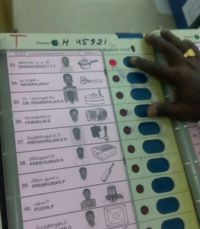 RK Nagar By-Elections: Votings underway; 24% voter turnout till 12:30 am
