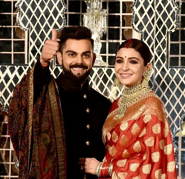 Virushka Reception:  Anushka Sharma and Virat Kohli stun at their reception