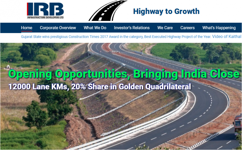 IRB Infra drops to 5% after CBI filed charge sheets against it