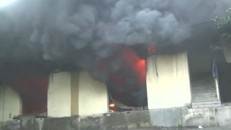 Massive fire broke out in 16 godowns at Sagar Complex, Bhiwandi