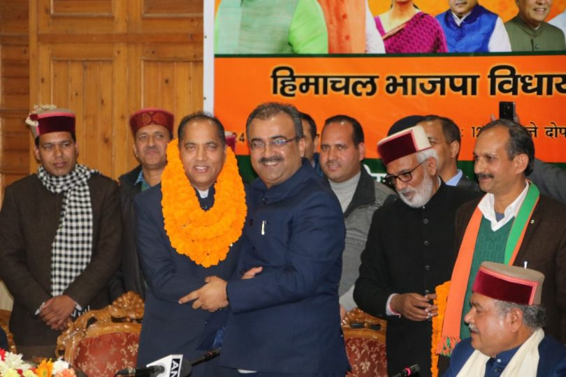 Jai Ram Thakur takes oath as Chief Minister of Himachal Pradesh