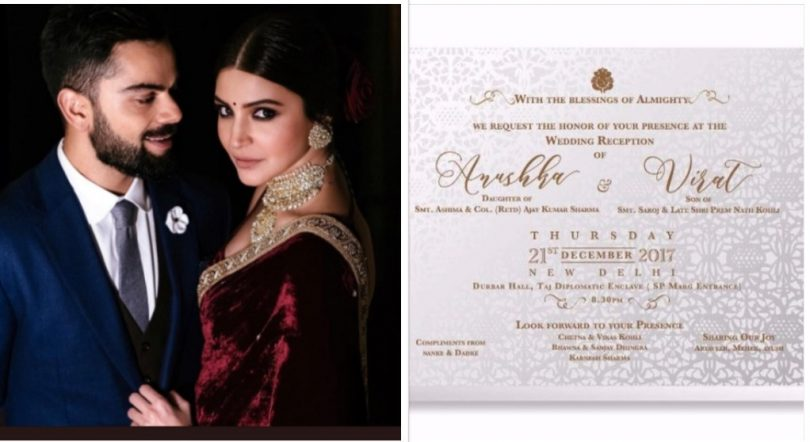 Virat and Anushka hold Grand Reception Party on 21 Dec