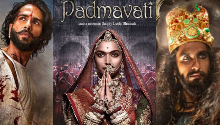 Telangana : Karni Sena issued threats, tears Padmaavat's poster outside movie theatre