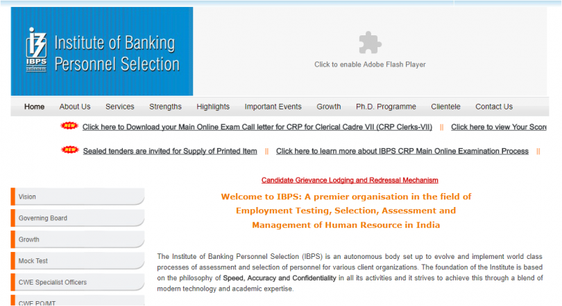 IBPS Clerk Mains Admit Card 2017 released at ibps.in
