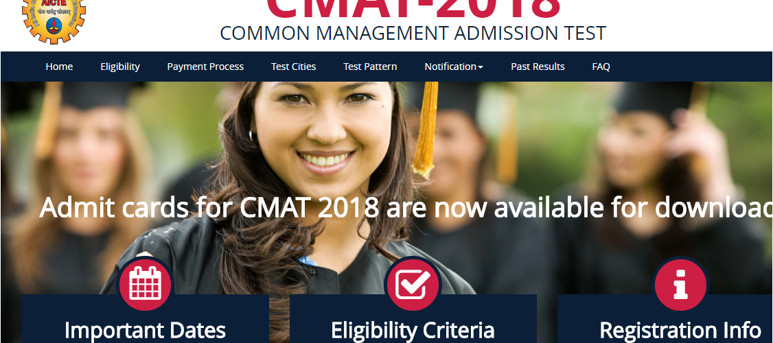 CMAT Admit Card 2018 is now available at www.aicte-cmat.in