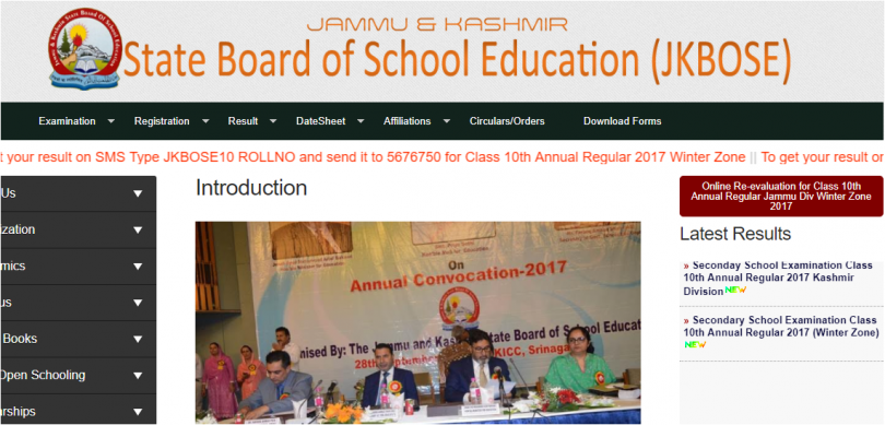JKBOSE Class 10th Annual Result 2017 declared at jkbose.co.in