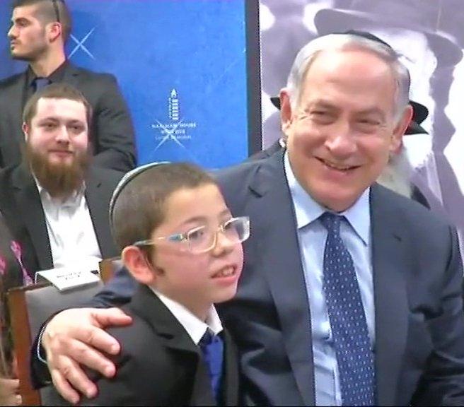Israeli PM Benjamin Netanyahu meets baby Moshe at Nariman house in Mumbai