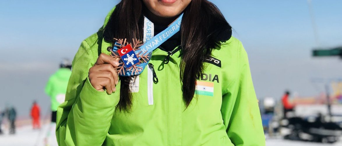 Aanchal Thakur is the first Indian woman to win International medal in skiing