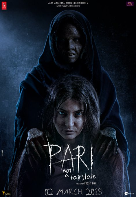 Pari movie poster: Anushka Sharma with a demon