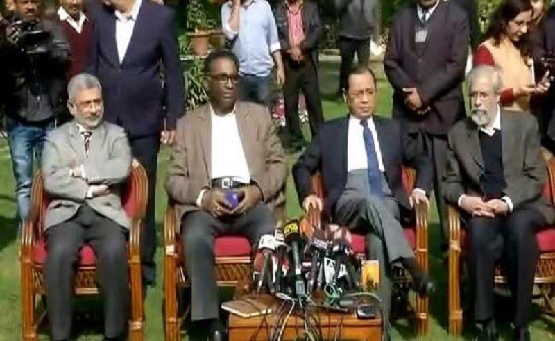 Supreme Court four Judges press conference is historic; Judges reacts