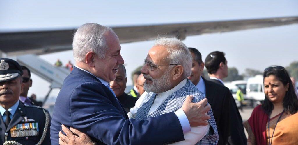 Benjamin Netanyahu visits India Narendra Modi breaks protocol to meet him at airport