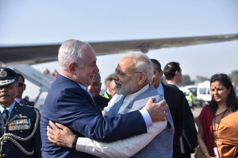 Benjamin Netanyahu visits India Narendra Modi breaks protocol to meet him at airport