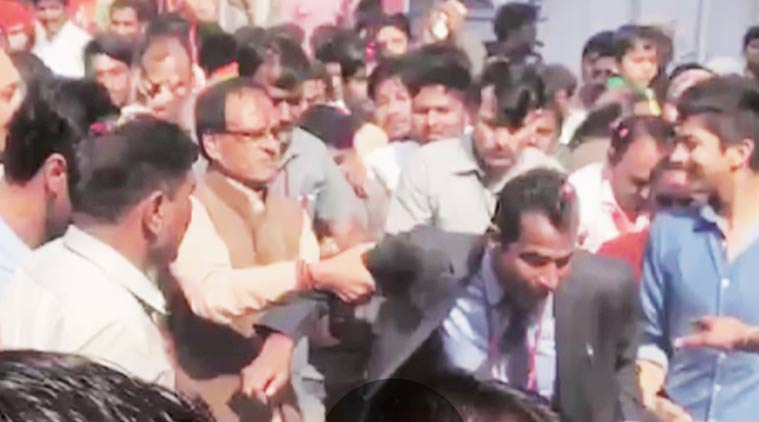 CM Shivraj Chouhan to be booked for slapping his security guard says Congress