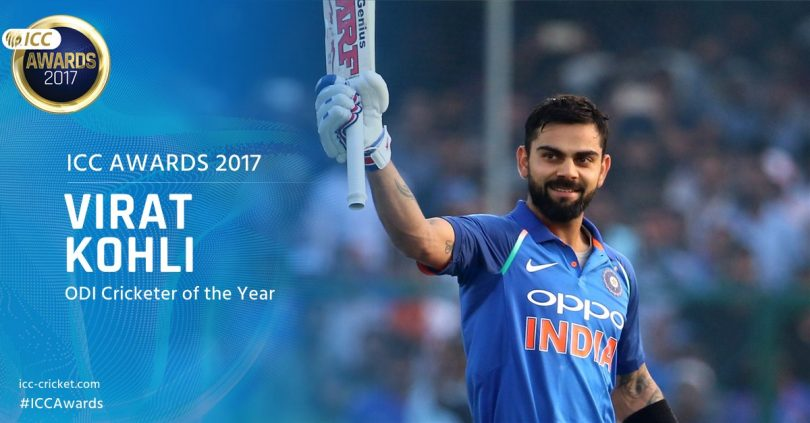 ICC Awards: Virat Kohli named the Cricketer of the Year 2017