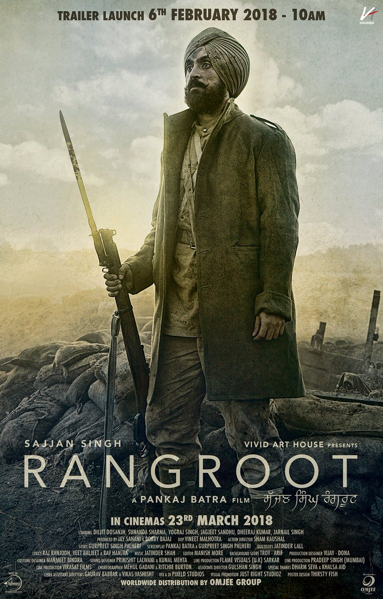 Diljit Dosanjh's Rangroot poster released, a powerful look at his new movie